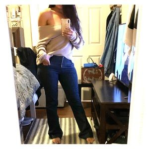 Bell bottom high waisted jeans